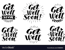 Get Well Soon Poster Get Well Soon Label Health Medicine Hospital