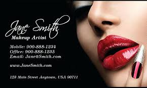 makeup artist cards templates business card free red lips beautician and