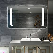 bathroom mirror with lights. luxury backlit led lights illuminated bathroom mirrors with quaser sensor switch mirror r