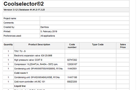 Danfoss Orifice Sizing Chart Kw Coolselector 2 Calculation Selection Software Free