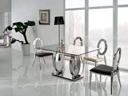 glass dining room sets modern glass dining room table set glass inside dining table