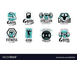 Fitness Gym Logo Or Label Sport Bodybuilding