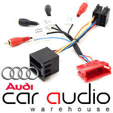 audi a3 a4 a6 tt allroad speaker amplified bypass car stereo Audi Stereo Wiring Harness image is loading audi a3 a4 a6 tt allroad speaker amplified audi a4 stereo wiring harness