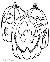coloring book page jack o lanterns