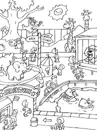Ausmalbild Zoo Kunst Ausmalbilder Ausmalbilder Malvorlagen Und
