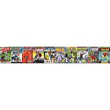 york wallcoverings disney kids iii marvel ic book covers border