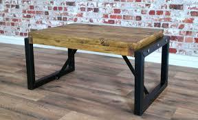 industrial style steel reclaimed wood coffee table
