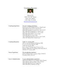 Sample Resume: Soccer Coach Resume Sle Baseball