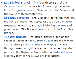 separation of powers it s relevant what i learned today the
