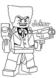 Printable Lego Batman Joker Coloring Pages For Boy Lego Joker
