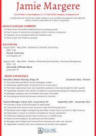 Executive Summary Resume