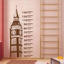 Big Ben Ruler Height Chart Vinyl Wall Art Decal Wd 0551