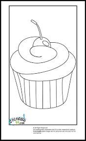 Cupcake Coloring Pages Coloring99 Com