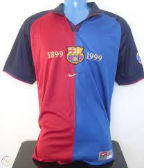 FC Barcelona GUARDIOLA 99/00 Centenary Home Football Shirt (L) Soccer Jersey