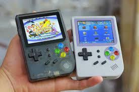 Máy Game Điện Tử 4 Nút Huyền Thoại - retro game 300 màn hình ips chưa hệ  retro nào có chống chói tặng thẻ 16gb chơi 17 hệ game cổ ps1 nes