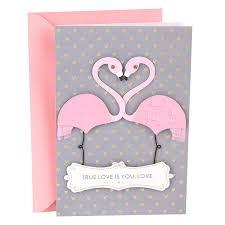 Love Card Design Hallmark Signature Love Card True Love Flamingos