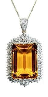 <b>Citrine</b> 27.39 Carat Diamond Pendant. mm | Pendant, Gorgeous ...