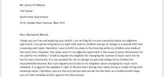 Complaint Letter For Apartment Maintenance Writeletter2 Com