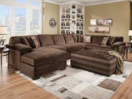 brown sectional living room