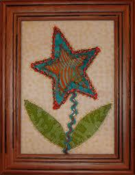 Quilted Framed Fibre Art, Starflower Textured Quilted Art ... & Quilted Framed Fibre Art, Starflower Textured Quilted Art, Textured Fiber Art  Quilt, Flower Quilt, Framed Quilt, Handmade Embroidered Art Adamdwight.com