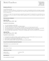 Traditional Resume Template Resume Templates