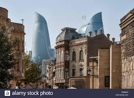 modern architecture. City Scene Old And Modern Architecture Baku Azerbaijan R
