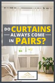 do curtains always come in pairs
