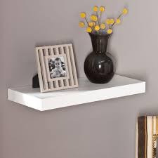 milson decorative floating shelf in white