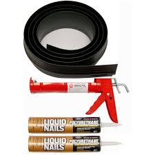 black garage door threshold kit