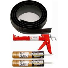 black garage door threshold kit