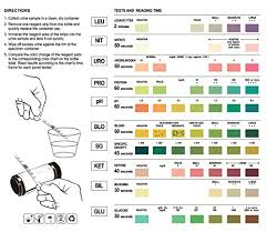 Color Chart Urine Test Strips How To Read Test Strips For Uti