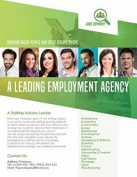 Employment Agency Free Flyer Template Download PSD Flyer Template