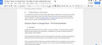 dropbox paper vs google docs which is better for online  most importantly dropbox paper