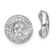 Diamond Round Earrings Designs Amazon Com 14k White Gold Diamond Round Earrings Jacket