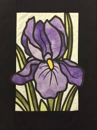debbie s day course stained glass iris