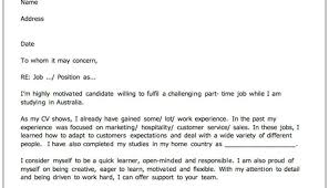 Open Cover Letter For Employment Cover Letter Job Application