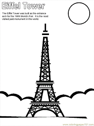 Small Picture Eiffel Tower Coloring Page Free France Coloring Pages