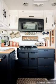 tiny house two tone cabinets