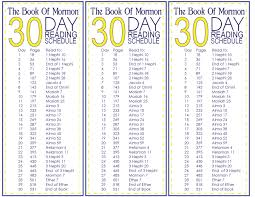 Book Of Mormon Reading Chart Calculator The Book Of Mormon 30 Day Reading Schedule Free Printable