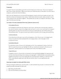 Open Office Resumes Free Resume Templates Template Download Online