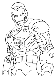 Small Picture Iron man hero coloring pages for kids printable free coloing