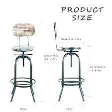 Bar Stool Size Chart Stool Height For Kitchen Counter Lavozfm Com Co