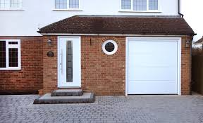 hormann tps 700 white powdercoated entrance door and hormann l ribbed sectional lpu40 garage door