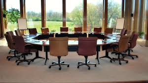 half circle conference room table