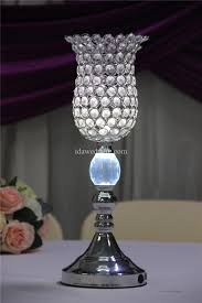 wedding table decor silver vases