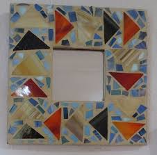 stained glass mosaic mirror bybarbara a
