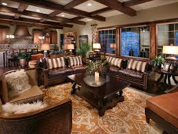 Living Room  Eclectic Masculine Living Room Design Ideas Using - Leather livingroom