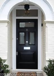 edwardian three glass front door into