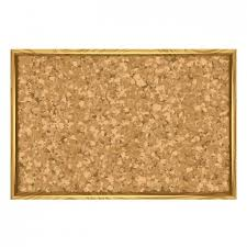Cork board with wood frame