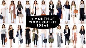 office wardrobe ideas. 1 MONTH OF WORK OUTFIT IDEAS | Professional Work Office Wear Lookbook Miss Louie Wardrobe Ideas E